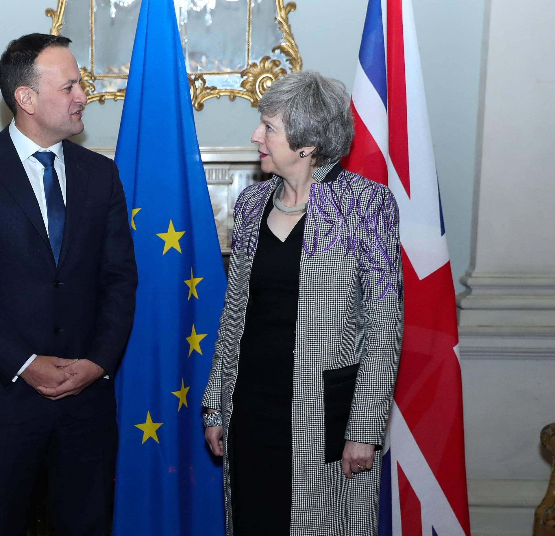 Britain's Prime Minister Theresa May meets Taoiseach Leo Varadkar in Dublin