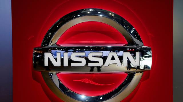 FILE PHOTO: Nissan logo is pictured during the media day for the Shanghai auto show