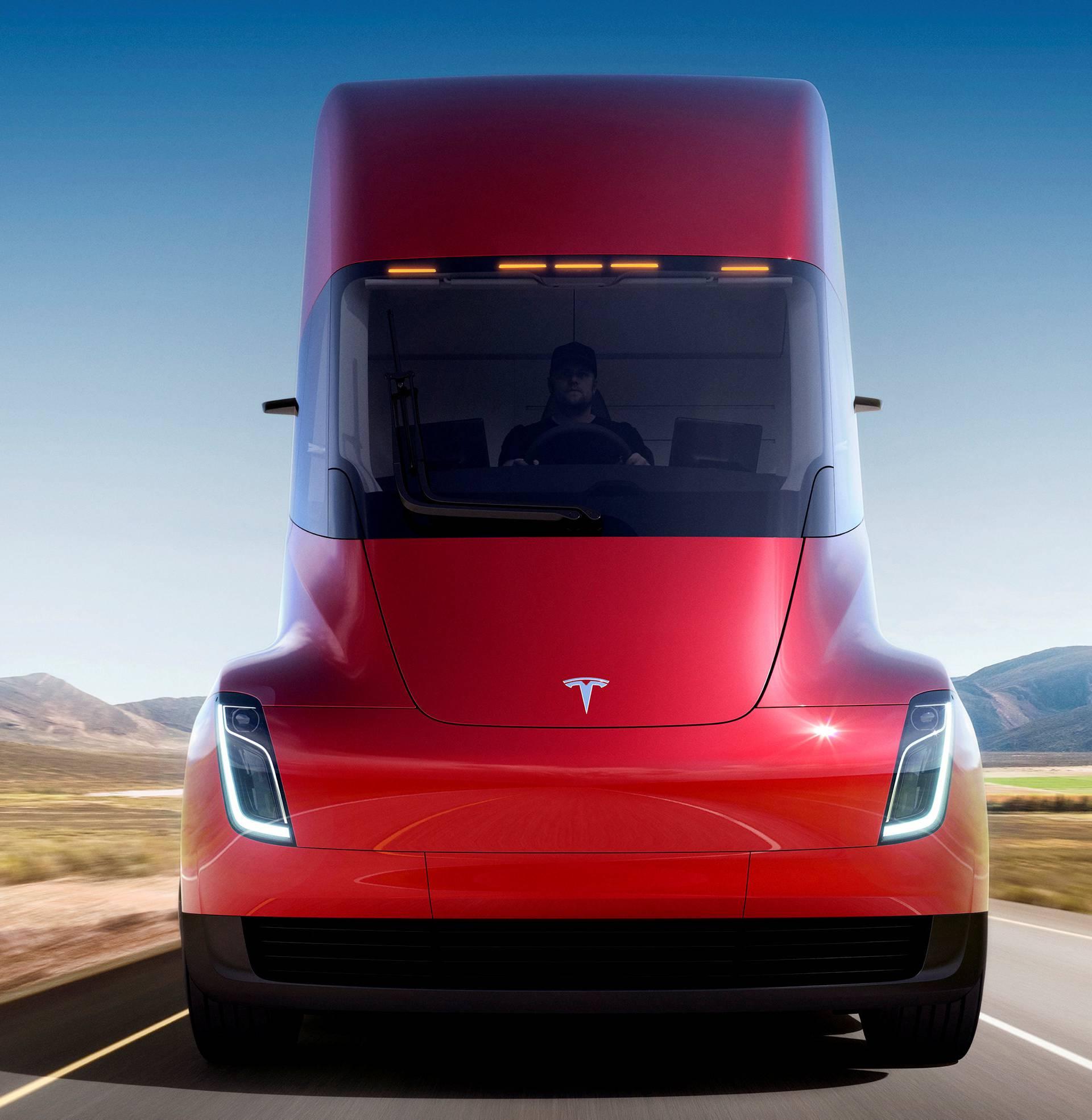 Undated handout image of the Tesla Semi