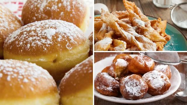 Krafne, fritule i kroštule: Toliko su ukusne da ćete prste lizati...
