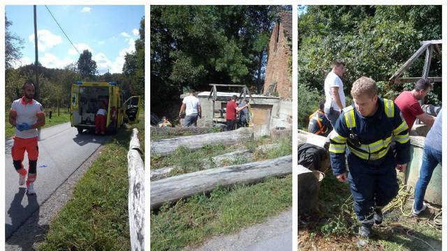 Muškarac u Pitomači čistio bunar pa izgubio svijest zbog plinova: Izvlačili ga vatrogasci