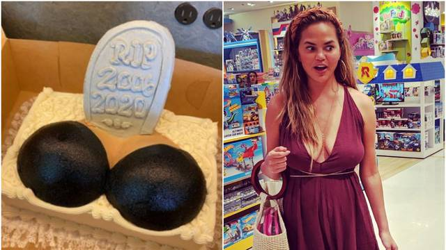Chrissy izvadila silikone i dobila tortu: 'Grudi, počivale u miru'