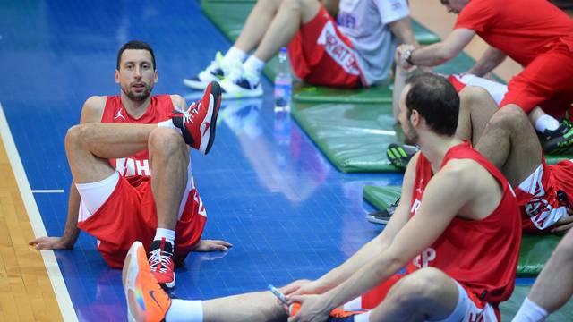Zagreb: Trening košarkaške reprezentacije uoči kvalifikacija za EuroBasket