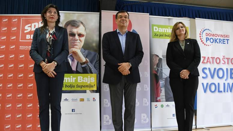 Domovinski pokret i SDP su sklopili programsku koaliciju sa županom Damirom Bajsom