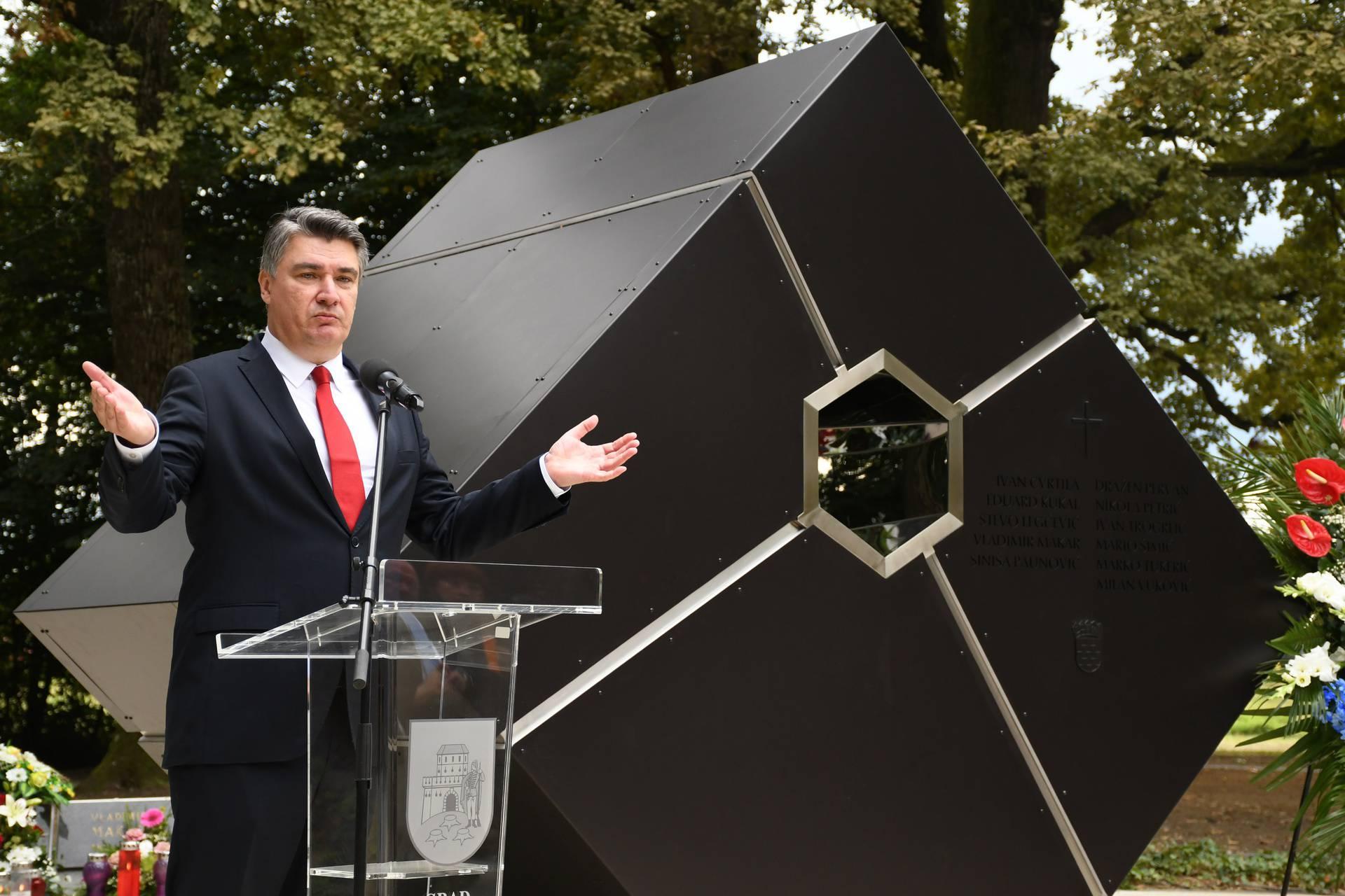 Predsjednik Milanović položio vijenac na Barutani, te sudjelovao na svečanoj sjednici Grada Bjelovara