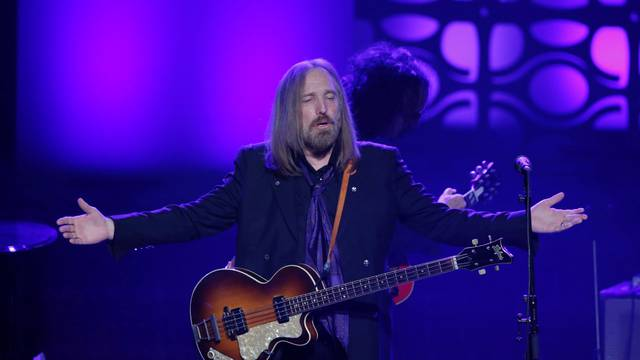 FILE PHOTO: Musician Tom Petty performs on stage after being inducted during the 47th Songwriters Hall of Fame Induction ceremony in New York