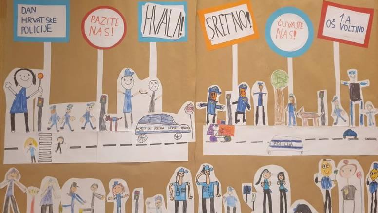 Ovo je preslatko! Policajci s Trešnjevke objavili čestitku od prvašića za Dan policije