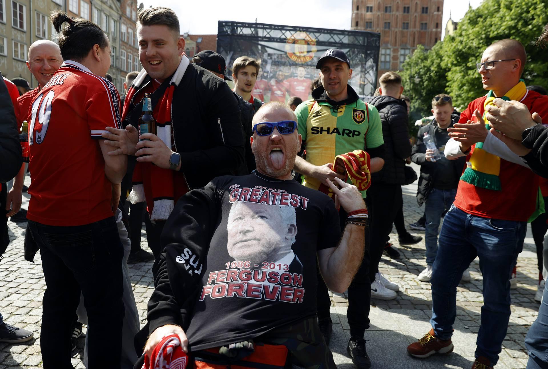 Europa League Final - Fans in Gdansk ahead of the Europa League final Villarreal v Manchester United