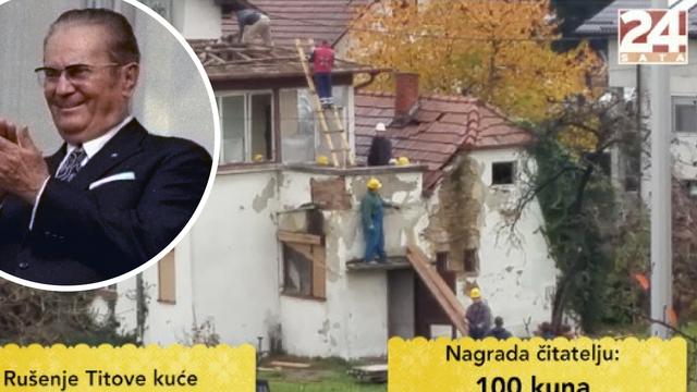 Ruše Titovu kuću u Gajnicama: 'Želimo bar spomen-obilježje'