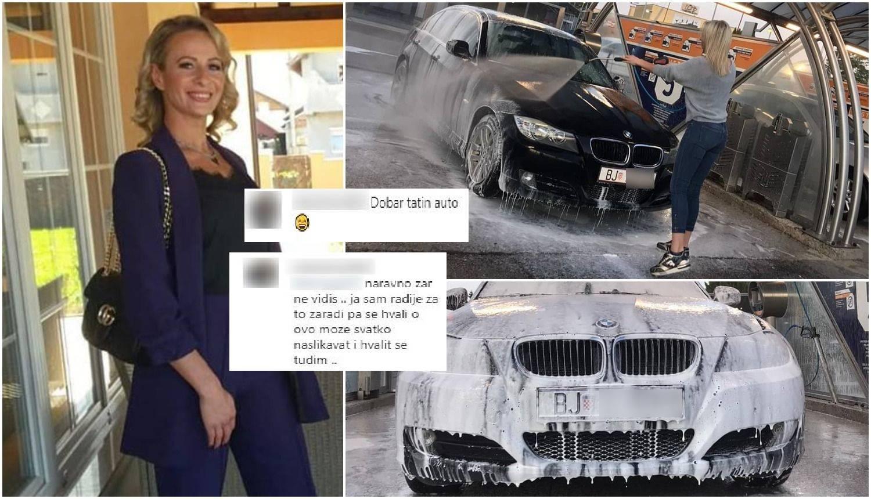 Nikolina prala BMW, gledatelji ju napali: Zaradi ga pa se hvali