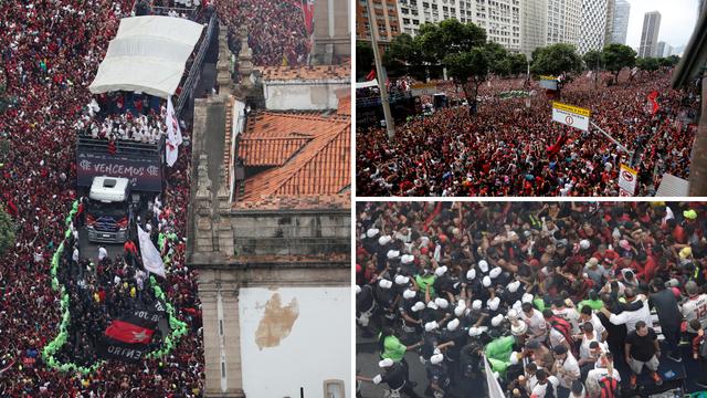 Lude scene u Riju: Rijeke ljudi slavile Flamengo pa izbio kaos