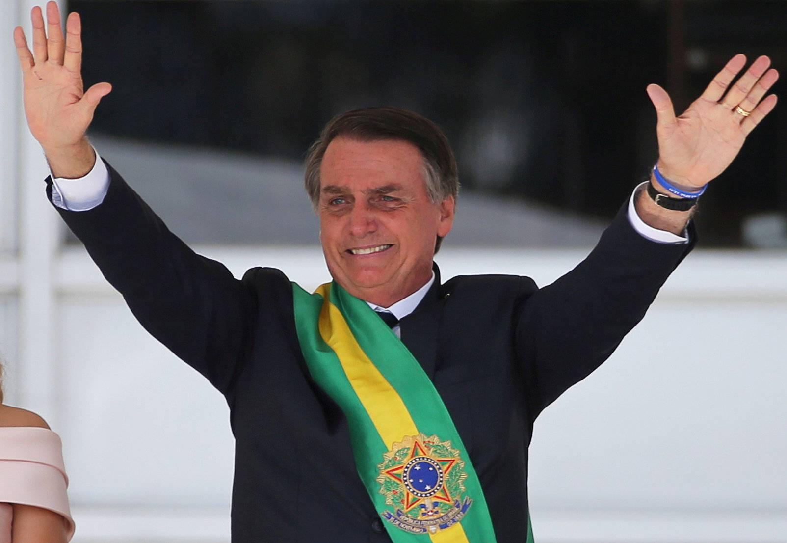 FILE PHOTO: Jair Bolsonaro takes office as Brazil's President
