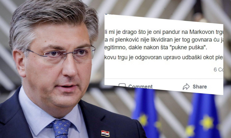 """Na Faceu je prijetio Plenkoviću: """"Drago mi je šta nije likvidiran, jer tog g****** ću ja rišit..."""""""