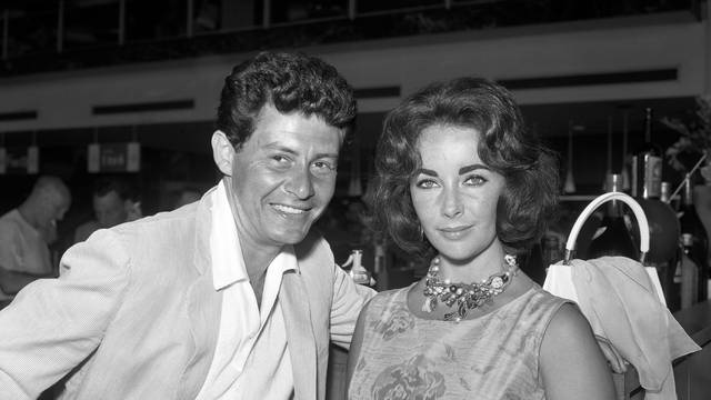 Eddie Fisher and Elizabeth Taylor - London Airport