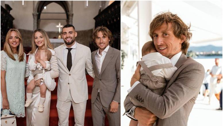 Mateo Kovačić objavio nove fotke s krštenja, kum Luka  s ponosom drži malenog Ivana