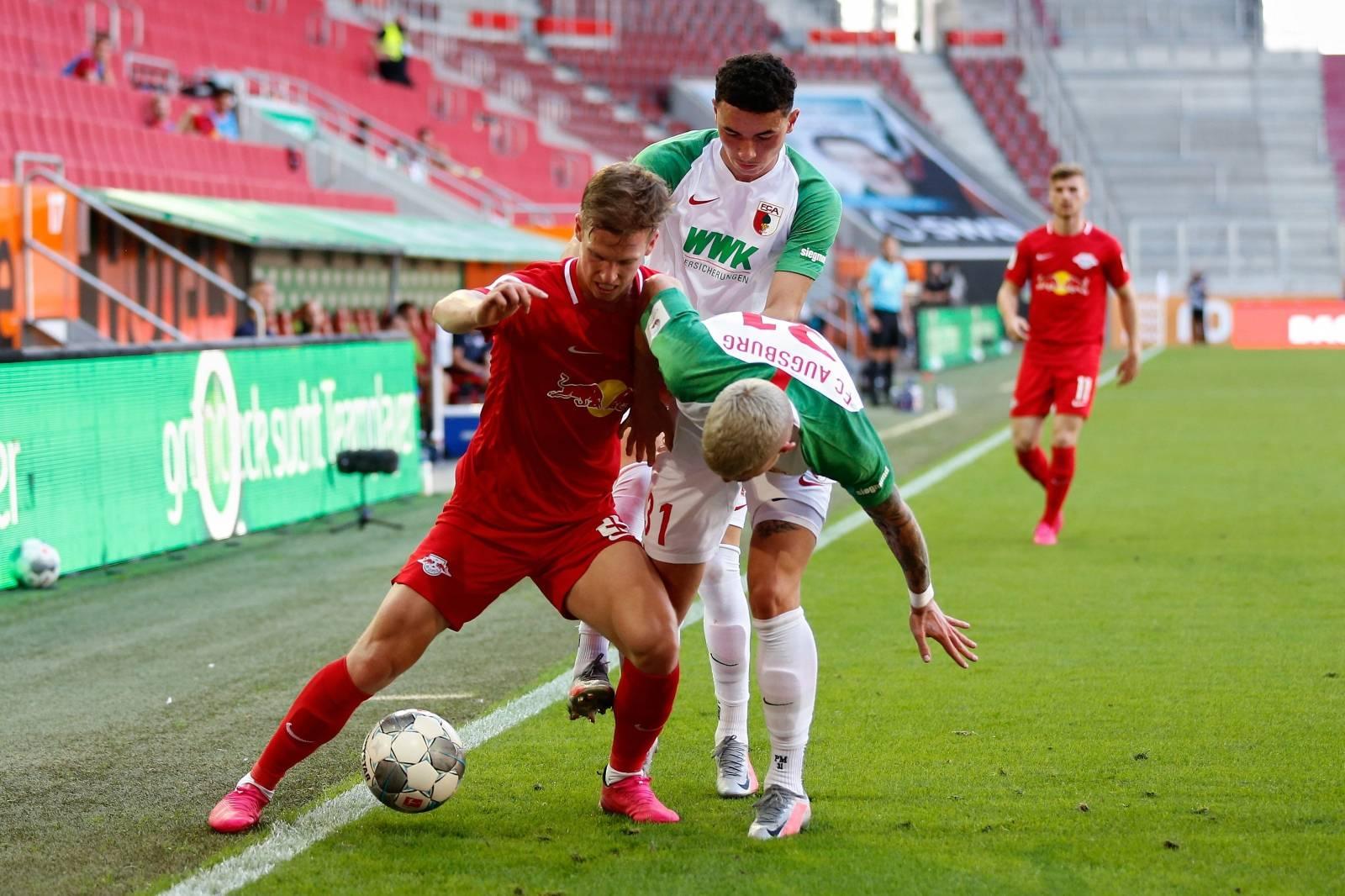 Soccer: Fuvuball: 06/27/2020 1.Bundesliga: season 19/20 34th matchday: FC Augsburg - RB Leipzig