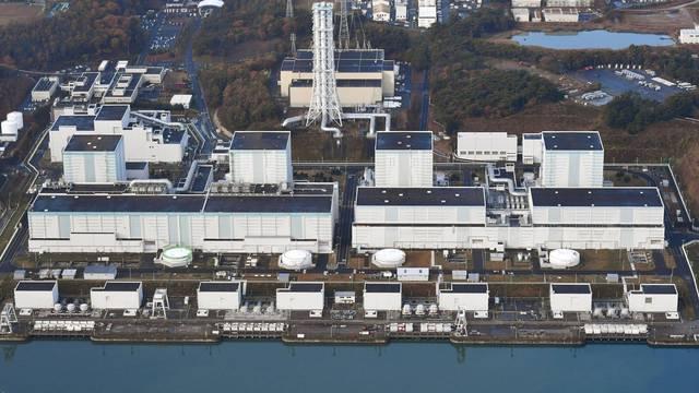 An aerial view shows Tokyo Electric Power Co.'s Fukushima Daini nuclear power plant in Naraha town, Fukushima prefecture, Japan
