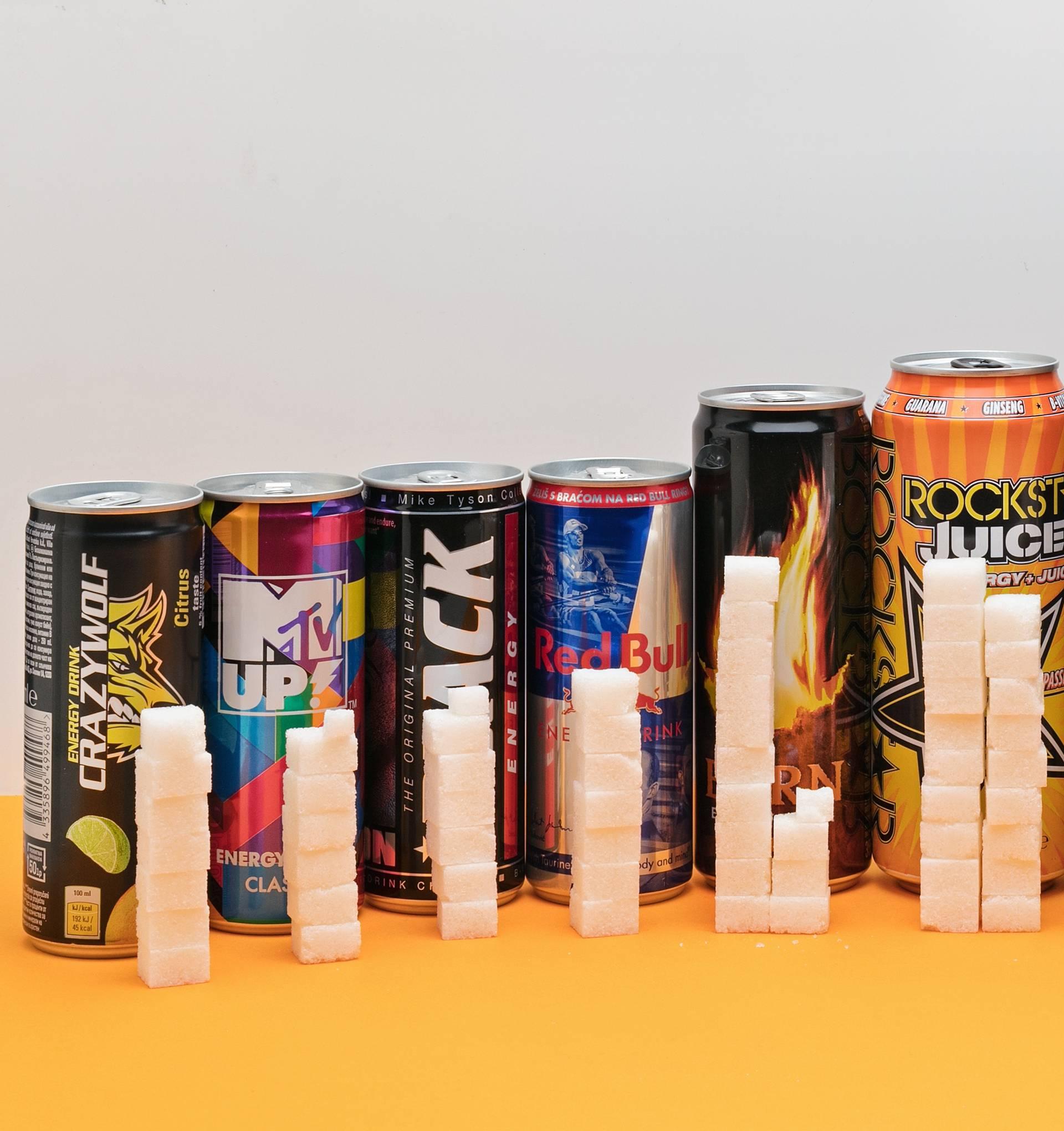 Zaslađene 'bombe': Energetski napici imaju do 18 kocki šećera