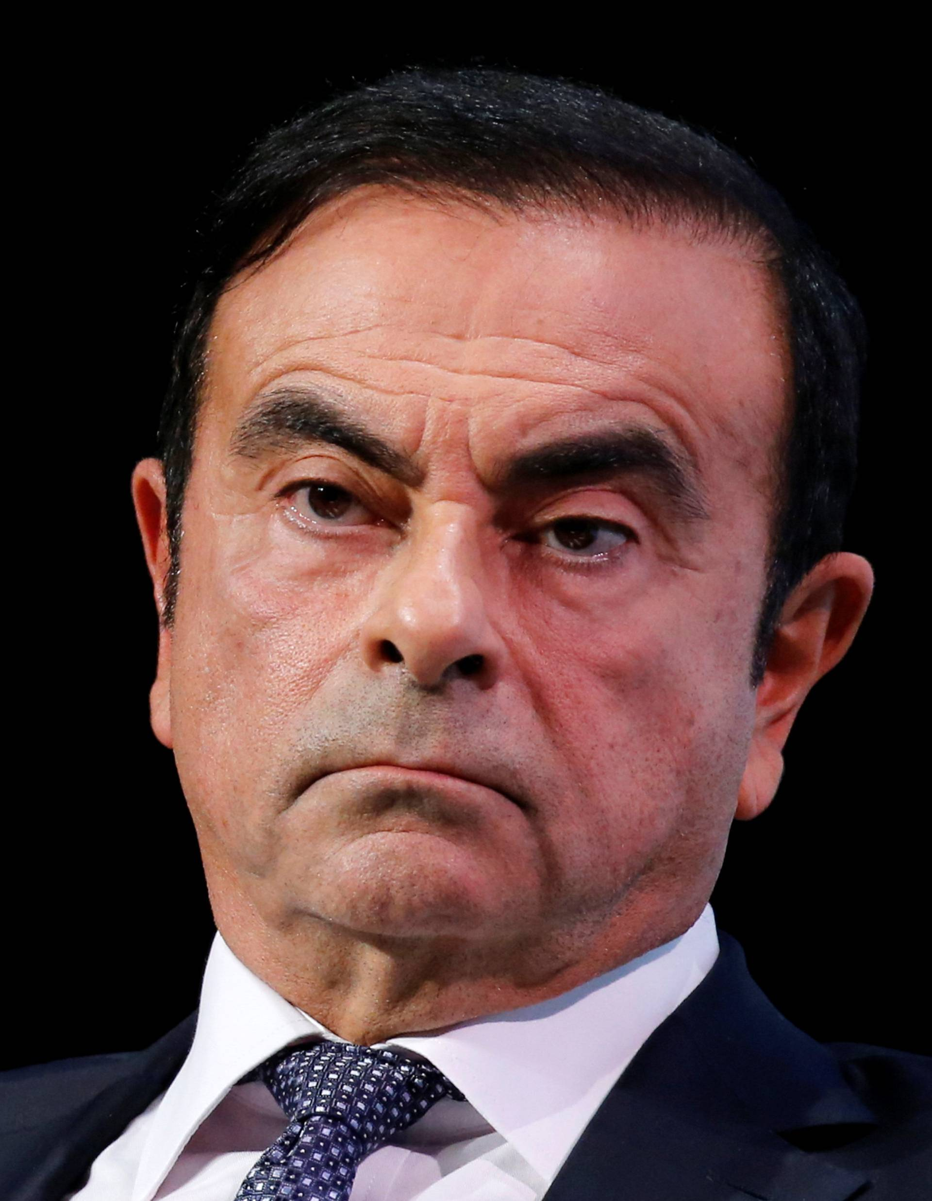 Carlos Ghosn, chairman and CEO of the Renault-Nissan-Mitsubishi Alliance, attends the Tomorrow In Motion event on the eve of press day at the Paris Auto Show, in Paris