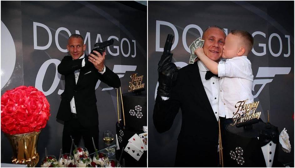 Vida kao Agent 007: Trideseti proslavio pozirajući s pištoljem