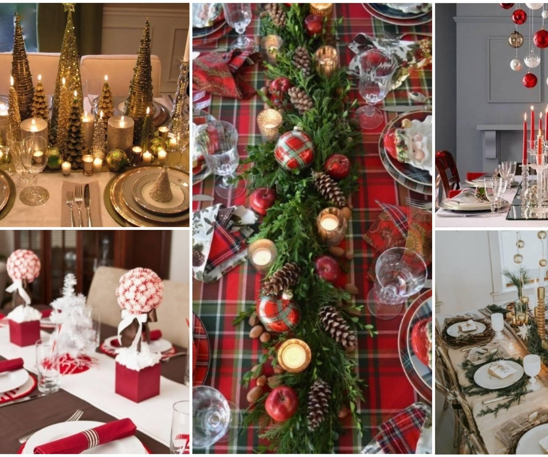 25 ideja: Postavite i ukrasite božićni stol kao profesionalac