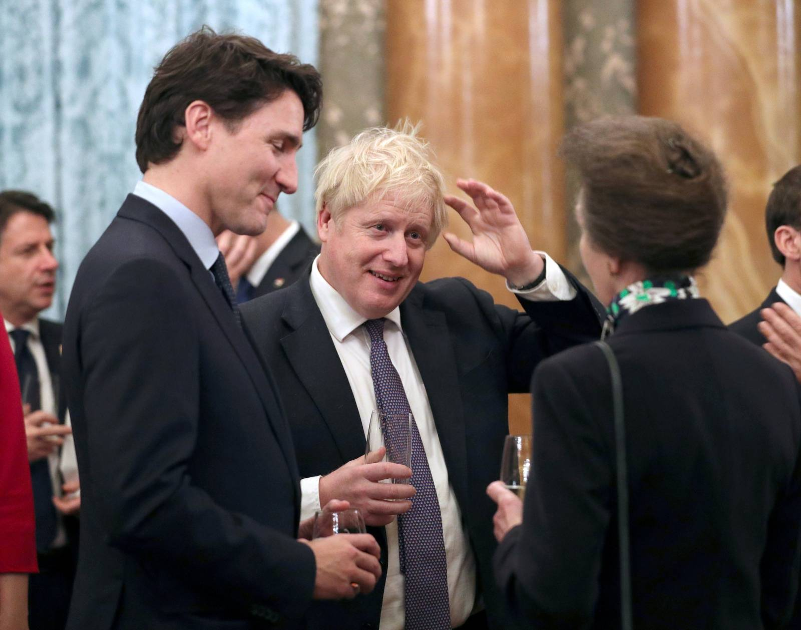 FILE PHOTO: NATO leaders attend an reception at Buckingham Palace in London