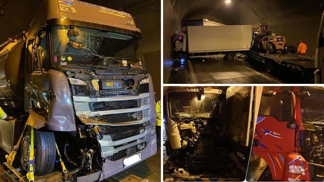 Krš i lom u slovenskom tunelu: U tri sudara 11 kamiona i auto
