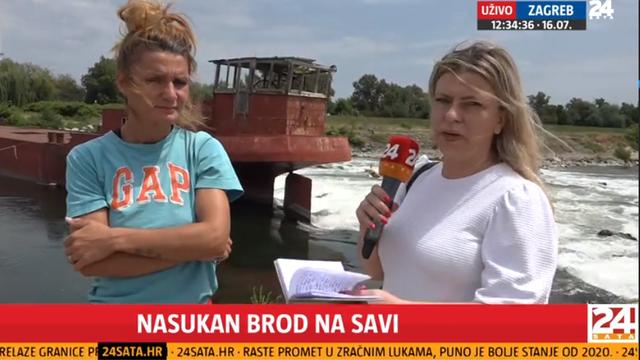 Suvlasnica nasukanog broda na Savi: 'Nije riječ o pucanju sajle, brod je namjerno odvezan'