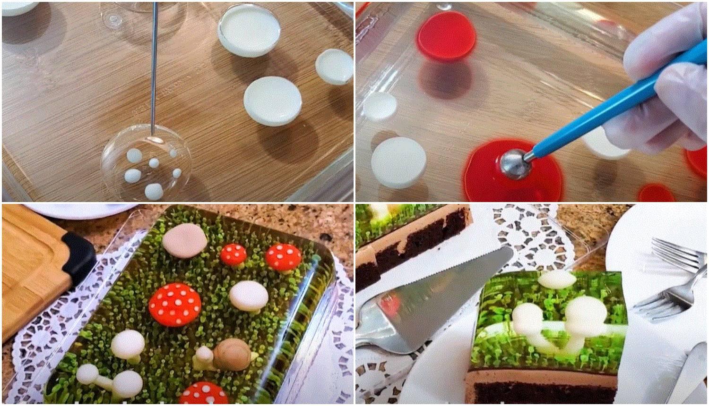 Uz pomoć tankog kista i jestive boje prave 3D tortu od želatine