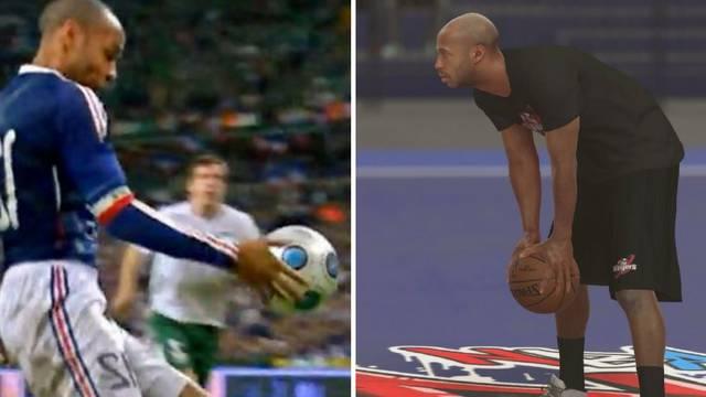 Zna igrati rukom, pitajte Irce: Thierry Henry je u NBA igri...