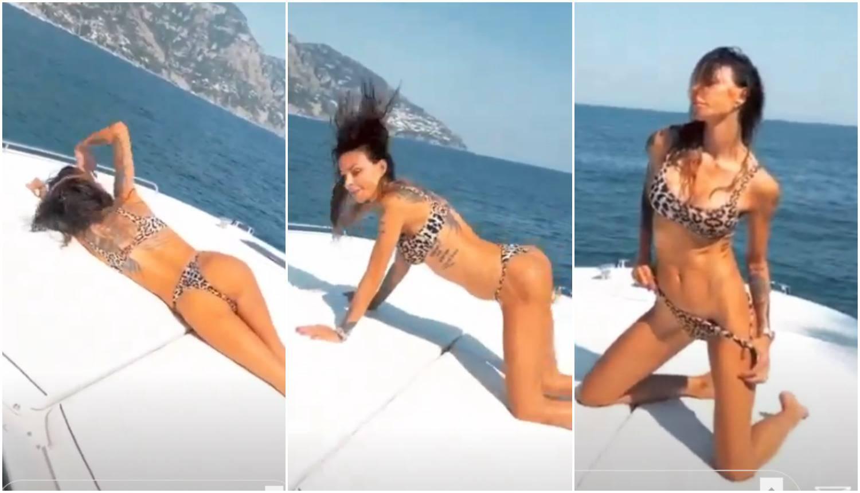 Nina Morić se izvijala na jahti i pokazala guzu: 'Premršava si'