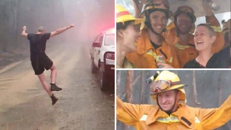 Napokon pala kiša u Australiji: Vatrogasci plaču od sreće...