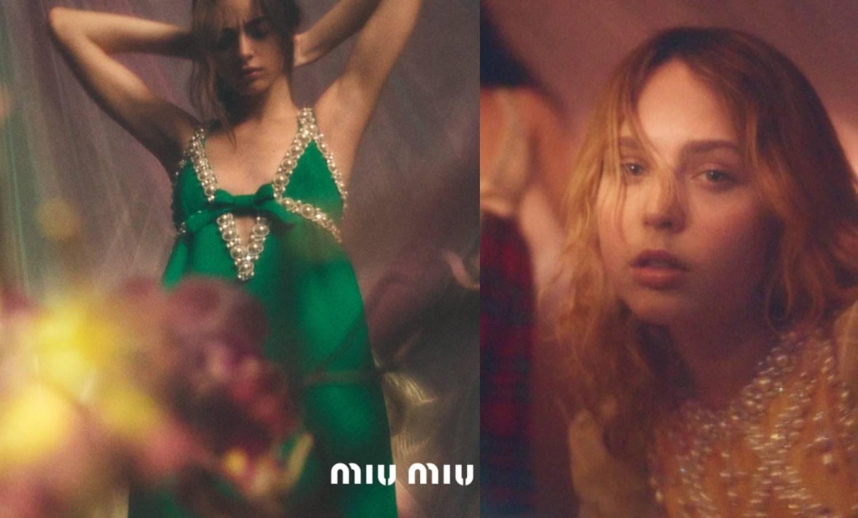 Miu Miu pre-fall 2020: Retro haljine optočene mega biserima