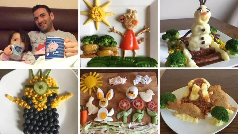 Supertata: Da kći zdravije jede dekorira hranu u likove iz crtića