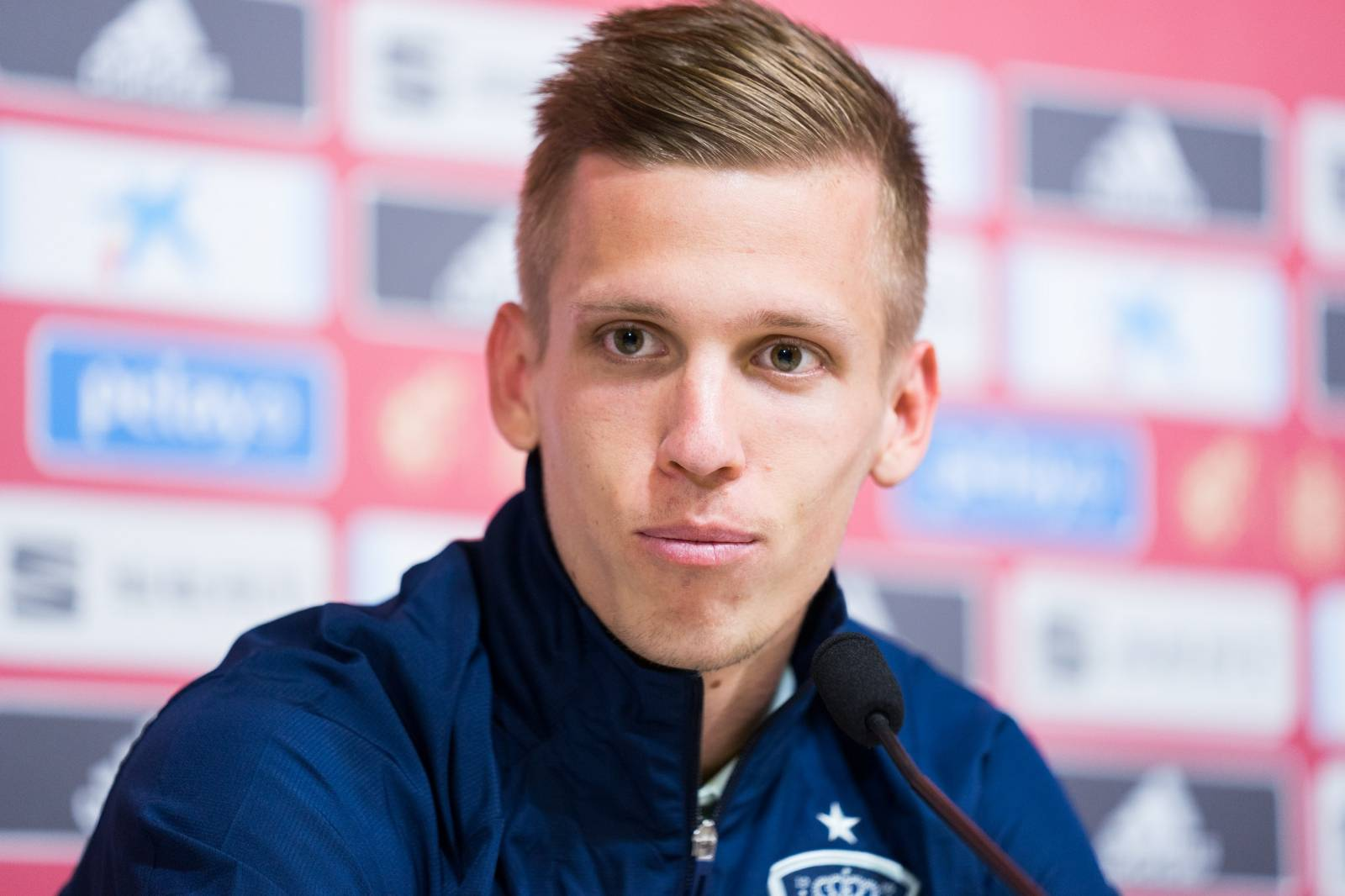 Dani Olmo attends the press conference previous to Spanish National Team of Football vs Malta and Romania