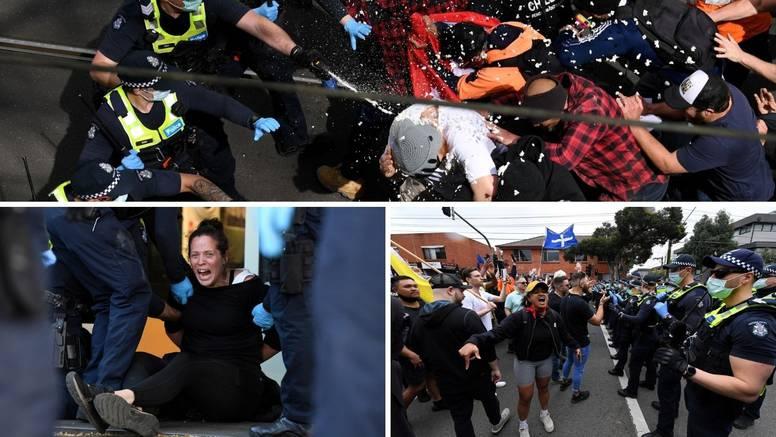 Masovni prosvjedi protiv covid mjera u Australiji: Više od 260 uhićenih, gazili po policajcima