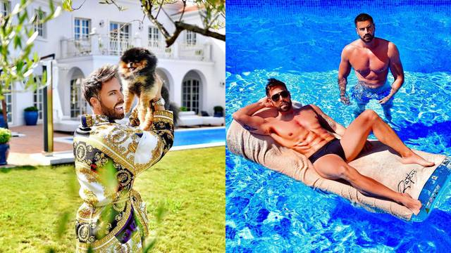 Modni Mačak i Momčilo pozirali u bazenu: 'Samo nas dvojica...'