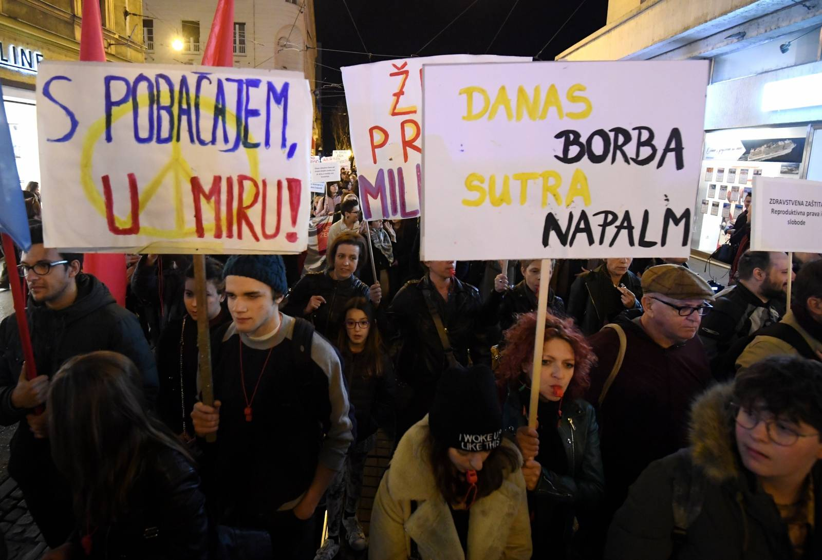 Zagreb: Žene u ovogodišnjem prosvjednom maršu pod sloganom Glasne i borbene