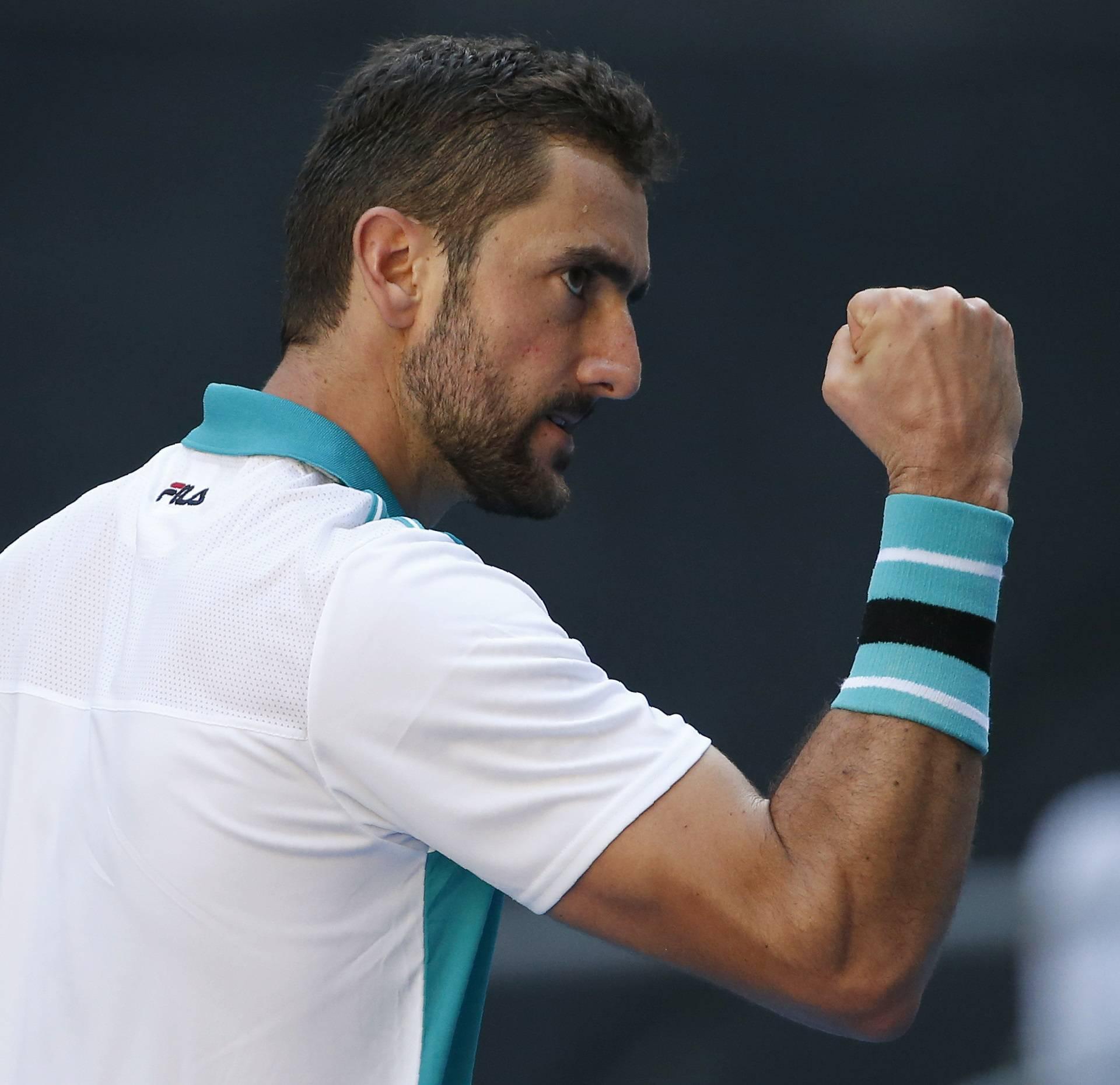 Tennis - Australian Open - Marin Cilic of Croatia v Vasek Pospisil of Canada - Hisense Arena, Melbourne, Australia