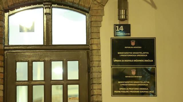 Zagreb: U Ministarstvu graditeljstva i prostornoga uređenja uhićena jedna osoba