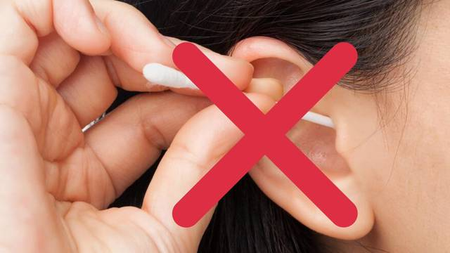 Uši se pravilno čiste vodom i sapunom, a ne štapićima za uši
