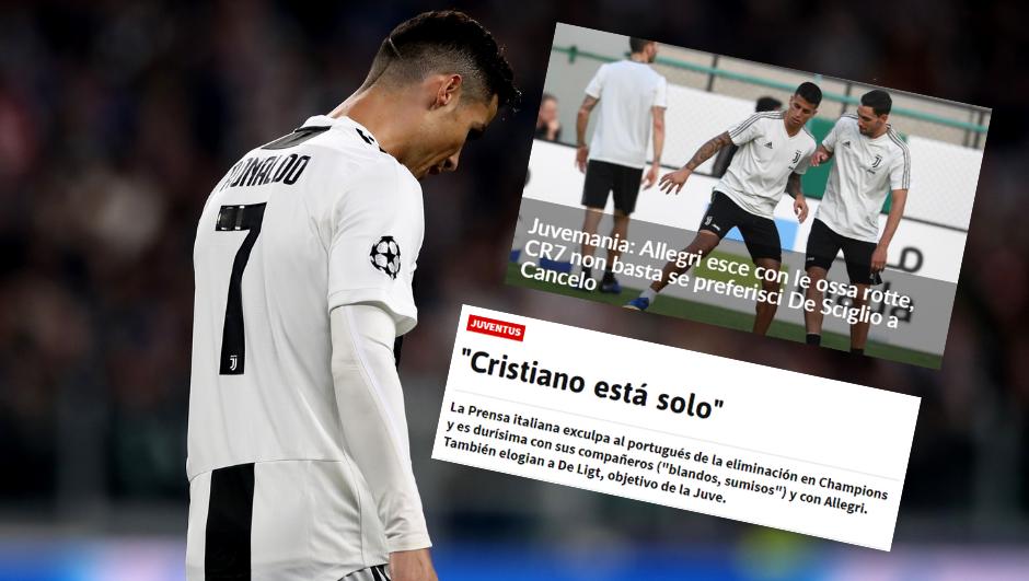 Talijanski mediji: Ronaldo opet fenomenalan, ali ne može sam