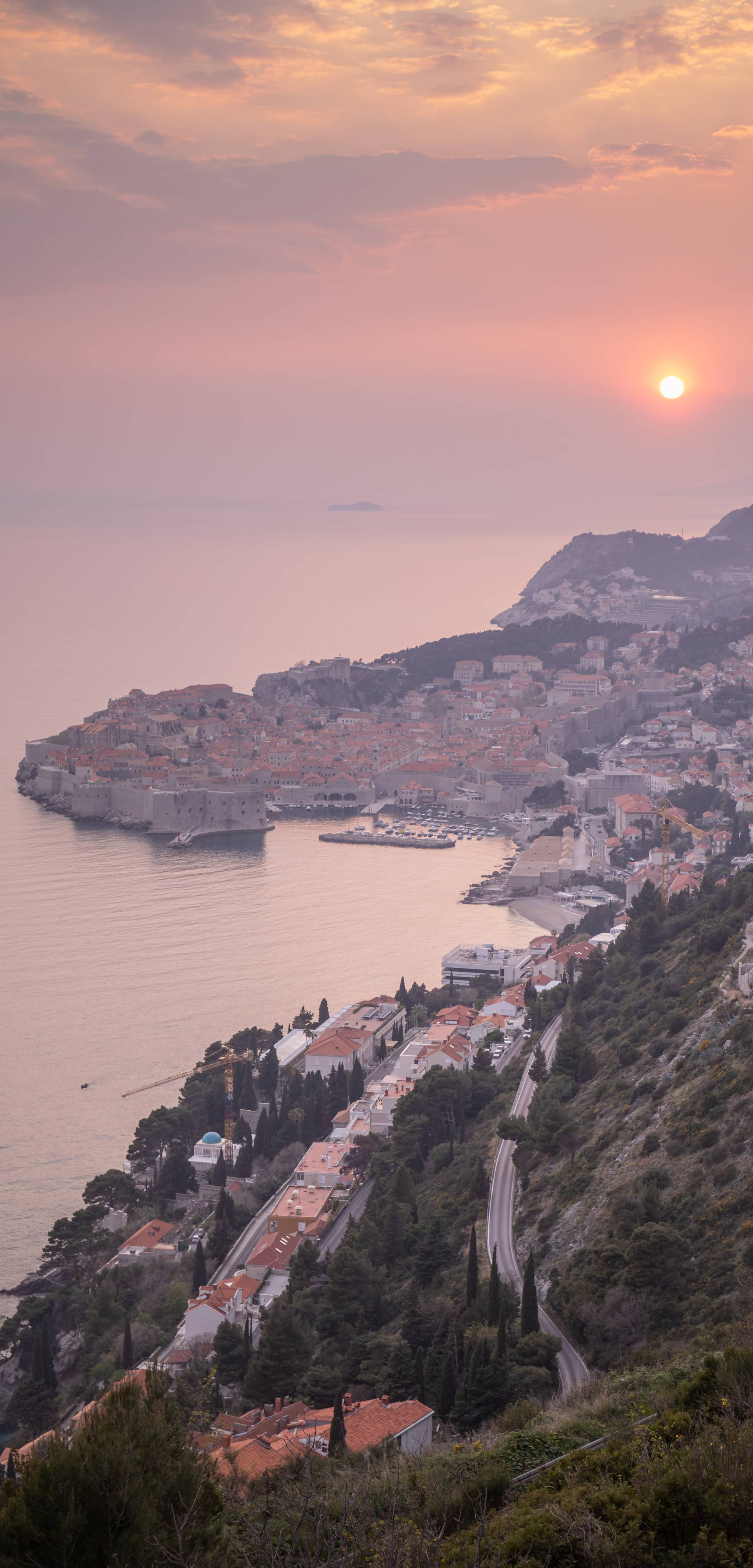 Zalazak sunca iznad Dubrovnika