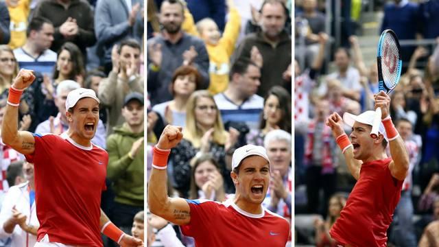 Čudesni Ćorić odveo Hrvatsku u četvrtfinale Davisova kupa!