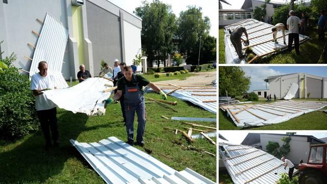 Vjetar otpuhao krov sa škole u Pitomači: 'Uništene su i kuće...'