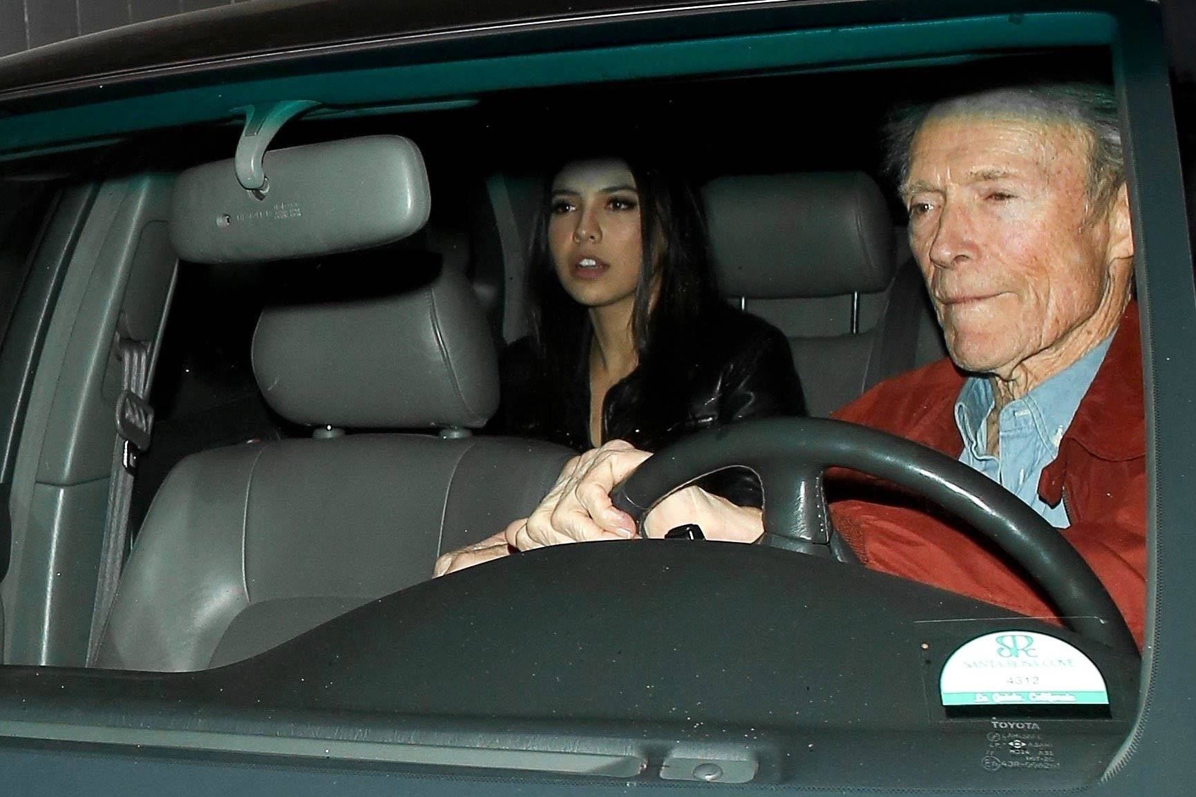 Clint Eastwood is spotted with Mick Jaggers ex girlfriend after a night out at Craig's