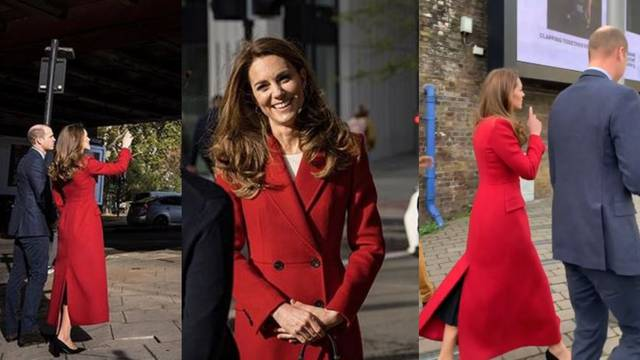 Kate Middleton otkrila omiljeni crveni jesenski maksi kaput