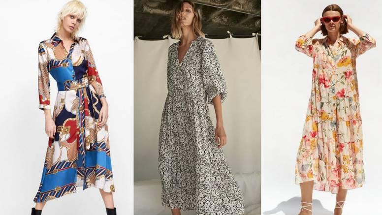 Velike haljine s printom odlična su opcija za sve stilske prigode