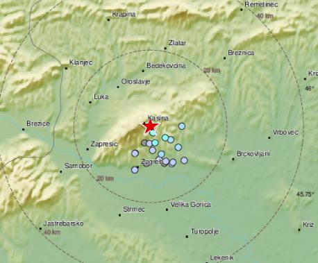 Novi potres u Zagrebu: 'Jako se čulo, a onda se dobro zatreslo'