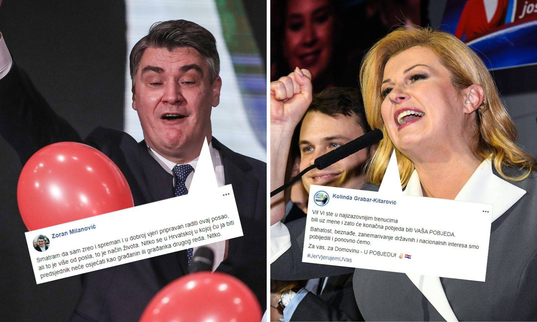 Milanović: Ja sam zreo za ovo; Kolinda: Pobjeđujemo bahatost